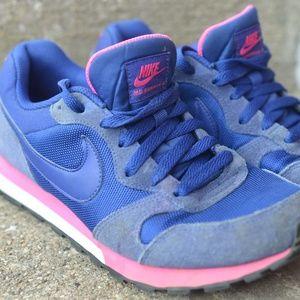 Nike MD Runner 2 Navy Blue Pink Sneakers Women's 8